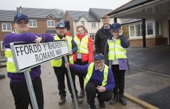 New street name decided by local school pupils in Flintshire