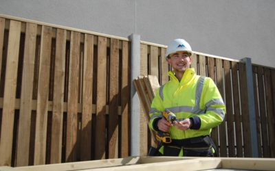 Carpentry apprentice Matthew learns his trade on our £4 million housing development in Fishguard